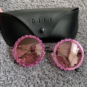 diff pink sunglasses never worn!